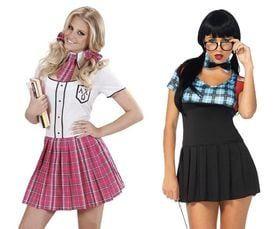 Schoolmeisje kostuum