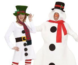 Sneeuwpop kostuum