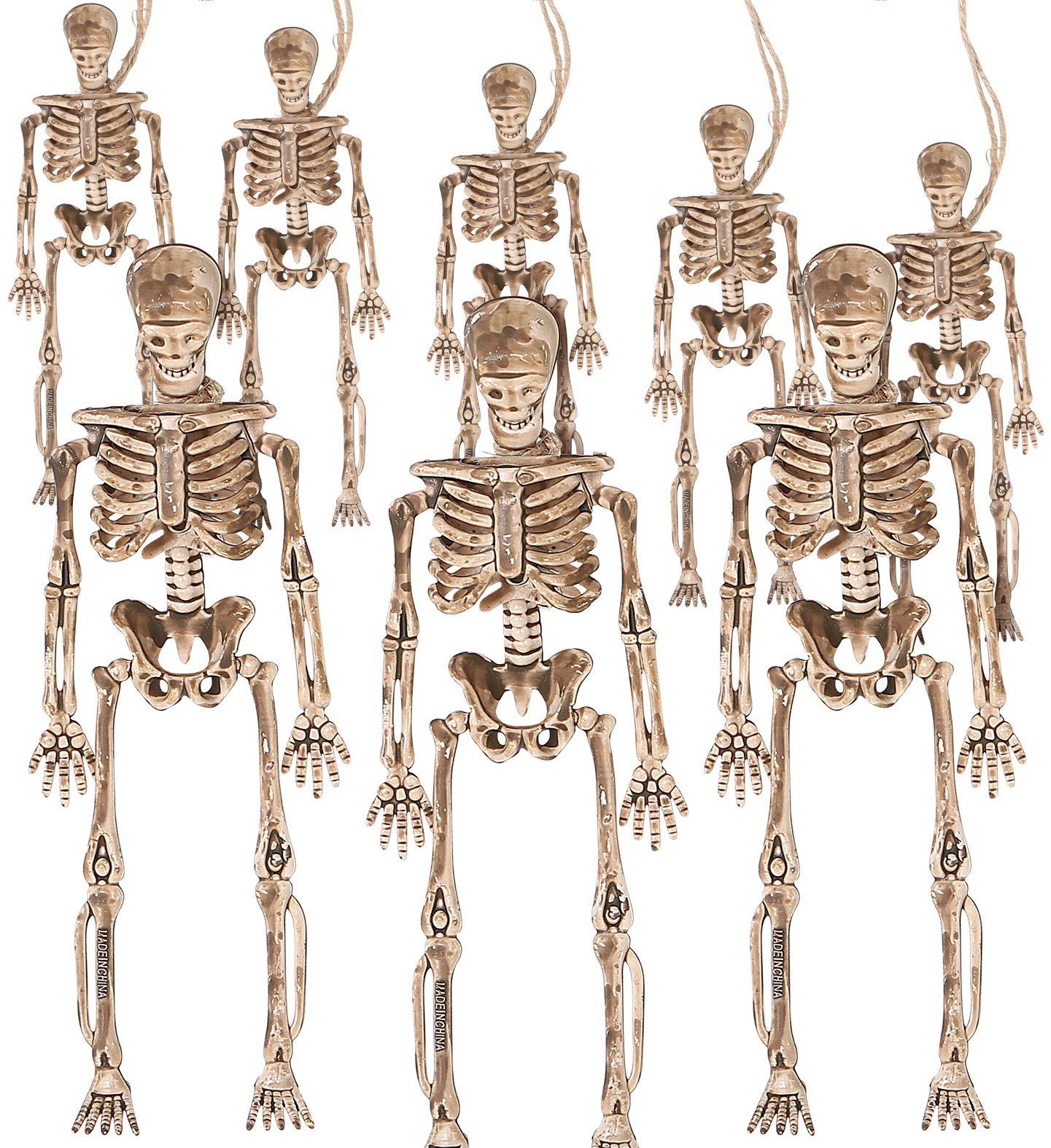11 meter vlaggen lijn skeletten