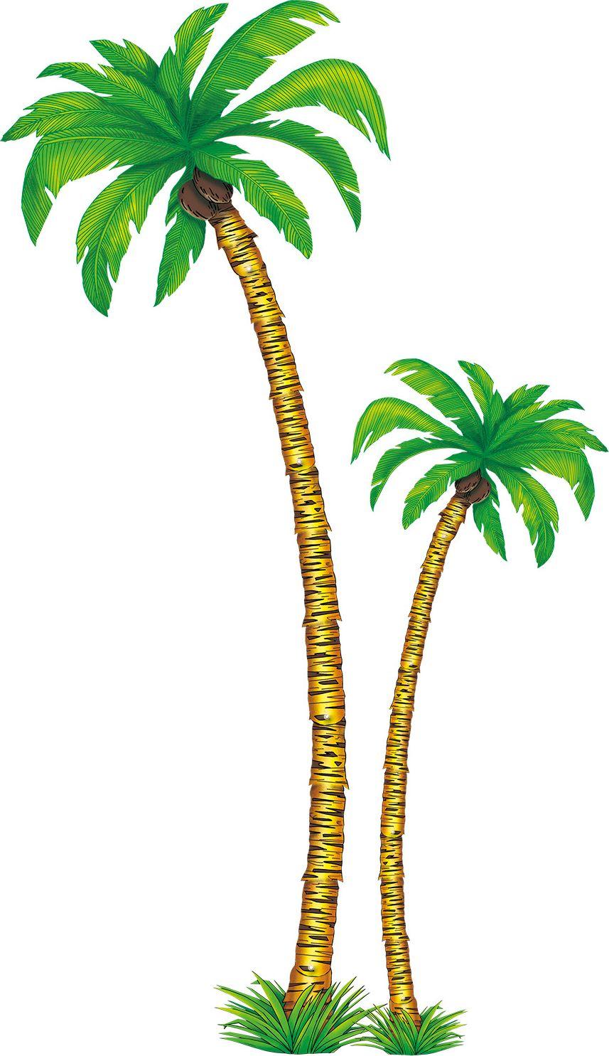 2 papieren palmbonen versiering