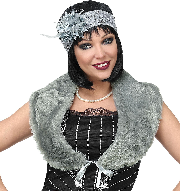 20s flapper accessoire set grijs dames