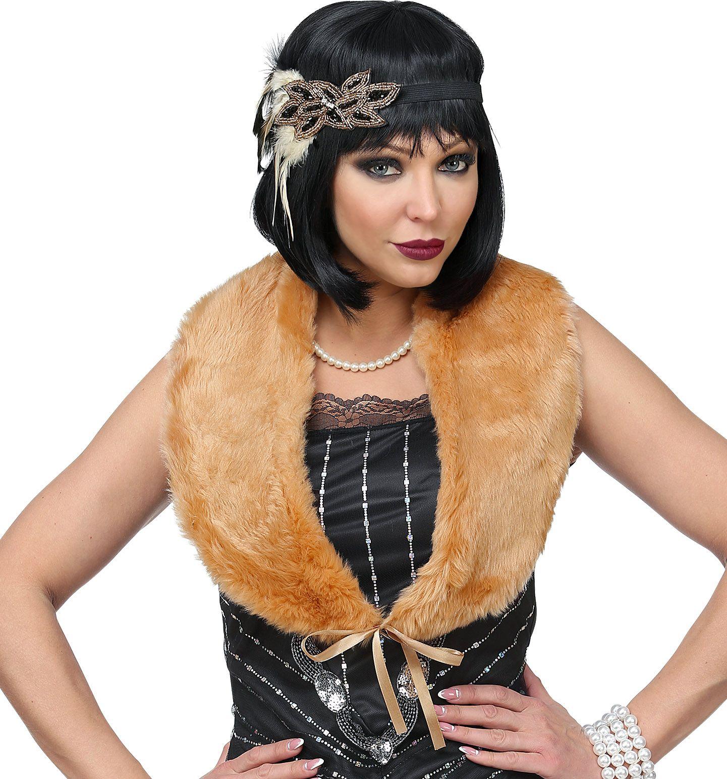 20s flapper accessoires bruin dames