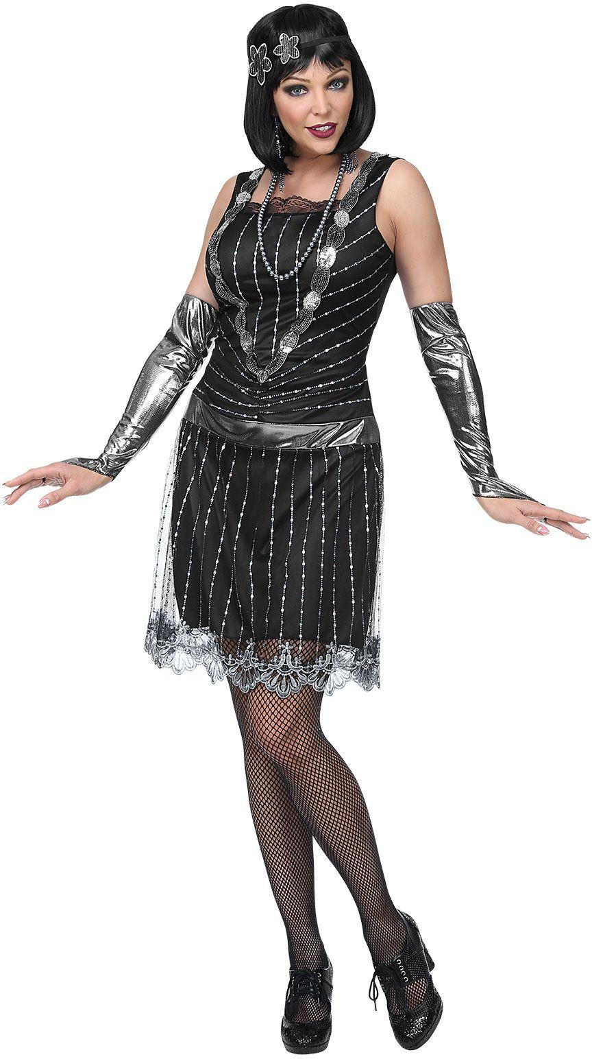 30s flapper jurk dames