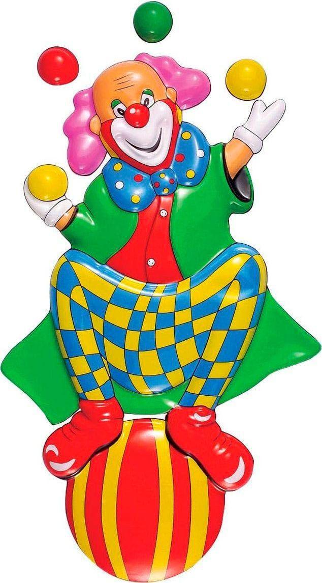 3D clown op bal versiering