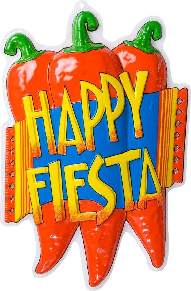 3D happy fiesta versiering