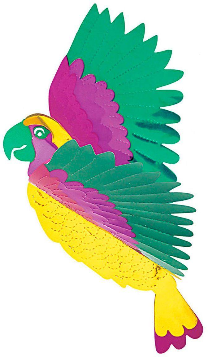 3D papieren papegaai versiering