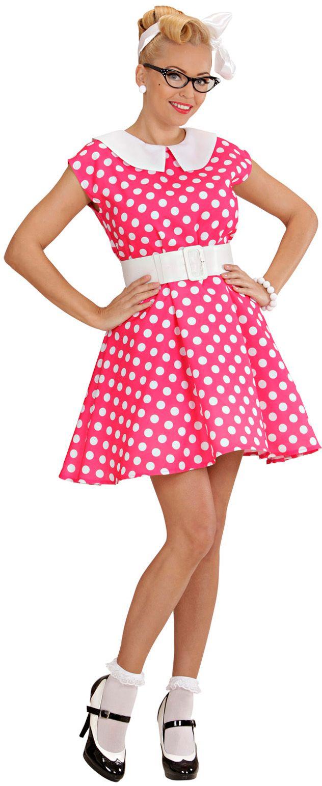 50s jurk roze