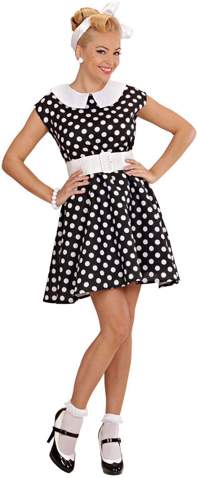 50s jurk zwart