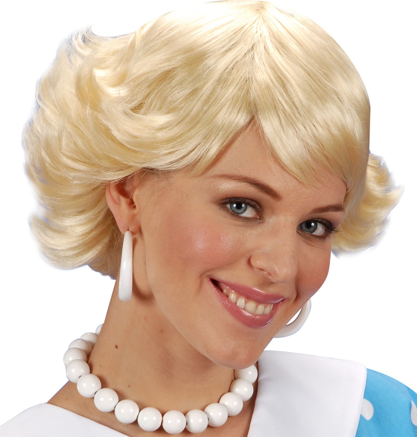 50s pruik blond