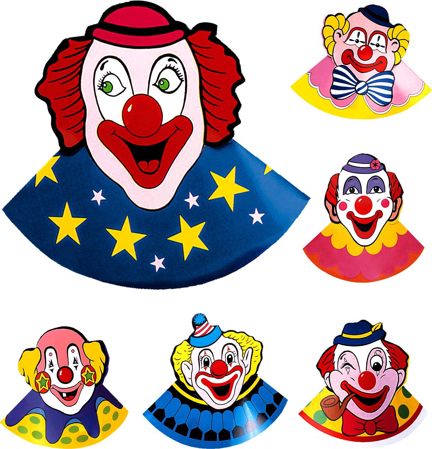 6 clown hoedjes