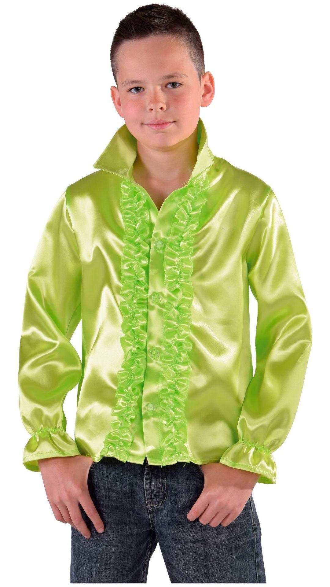 60s blouse groen jongens/meisjes