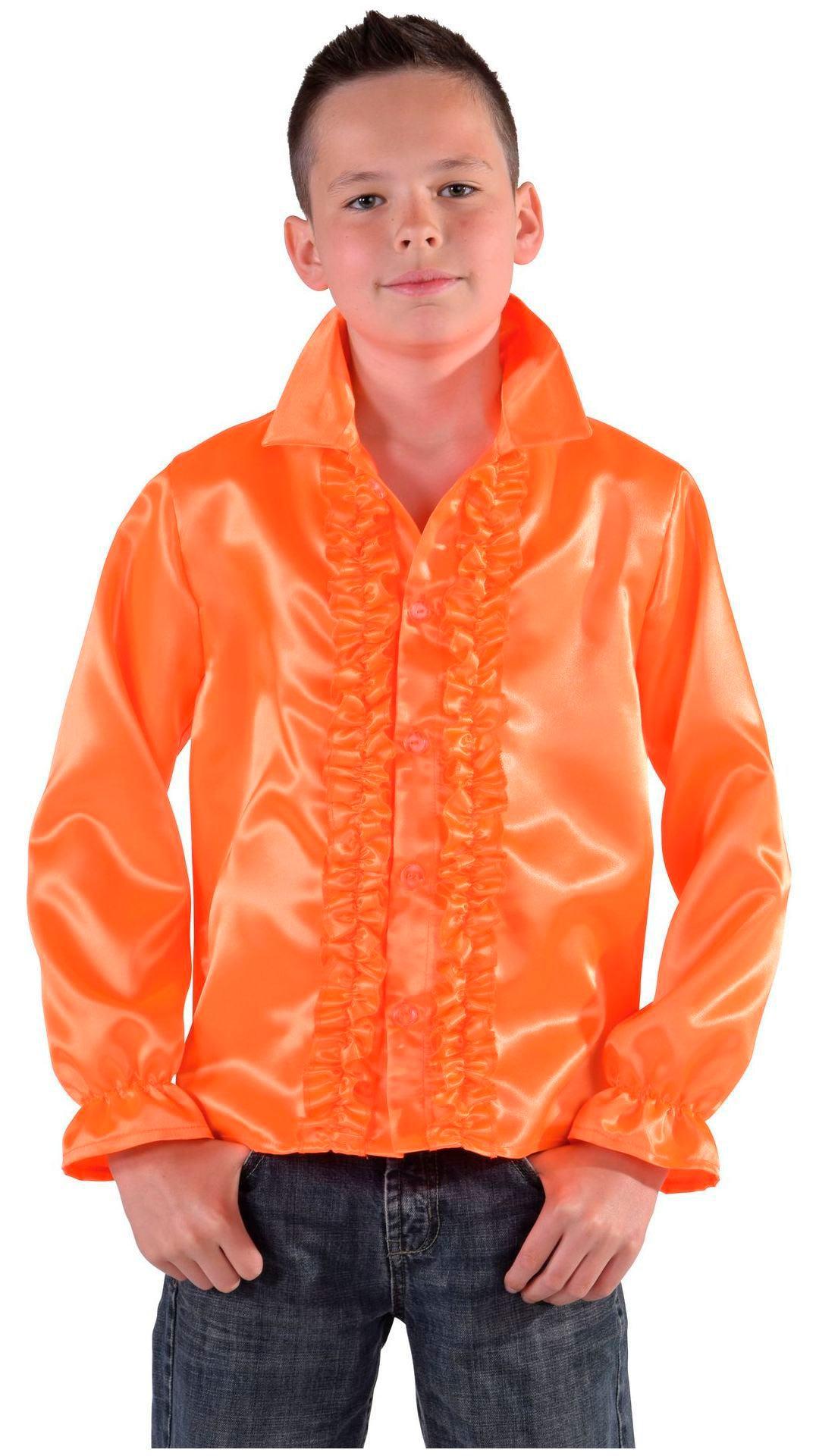 60s blouse oranje jongens/meisjes