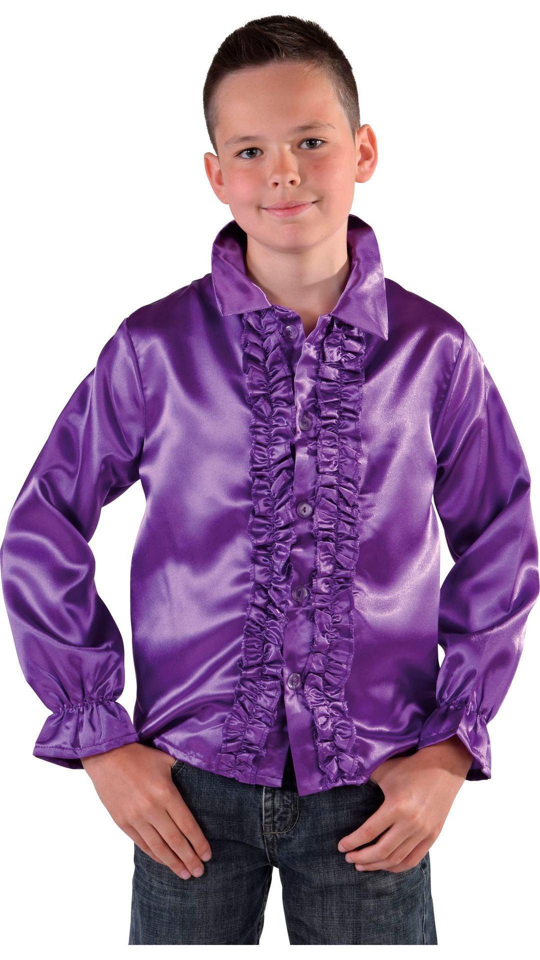 60s blouse paars jongens/meisjes