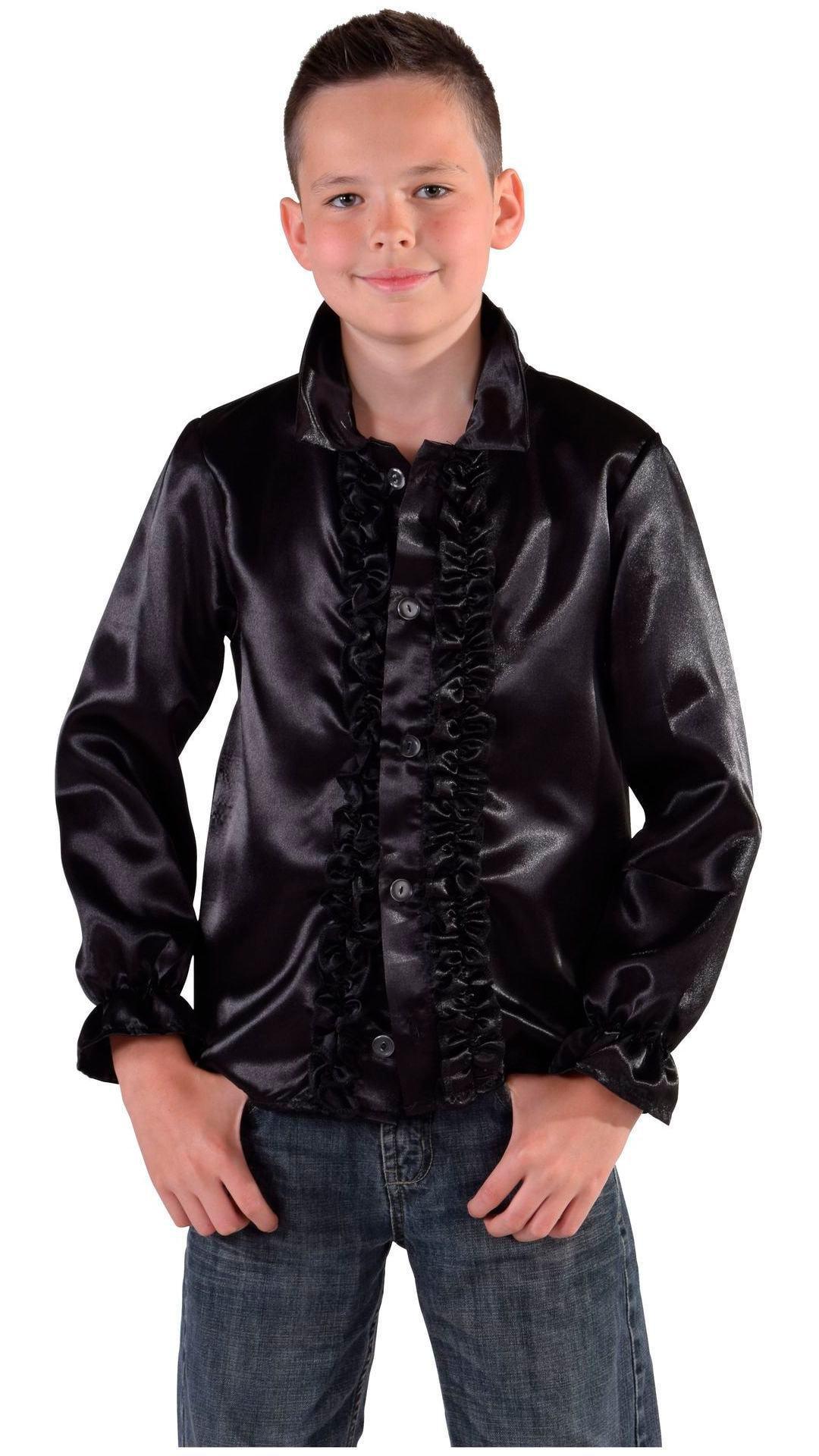 60s blouse zwart jongens/meisjes