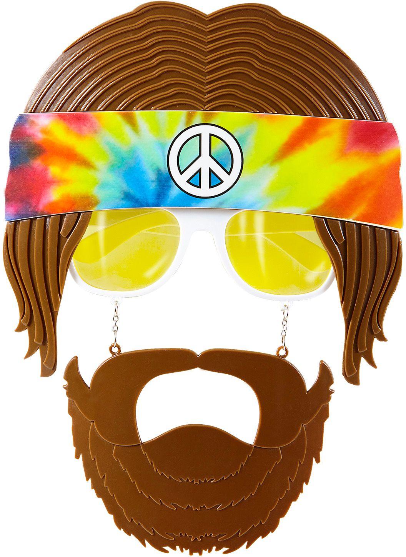 70s bril met baard