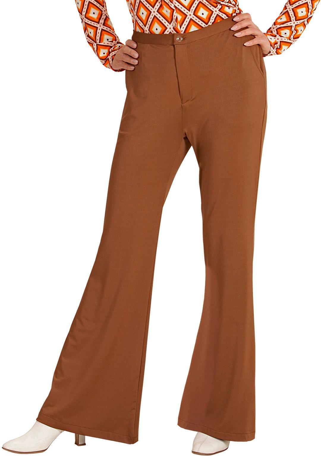 70s broek dames bruin