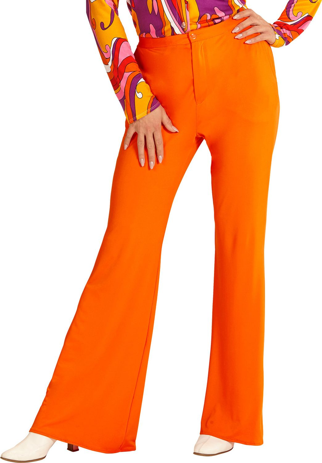 70s broek dames oranje