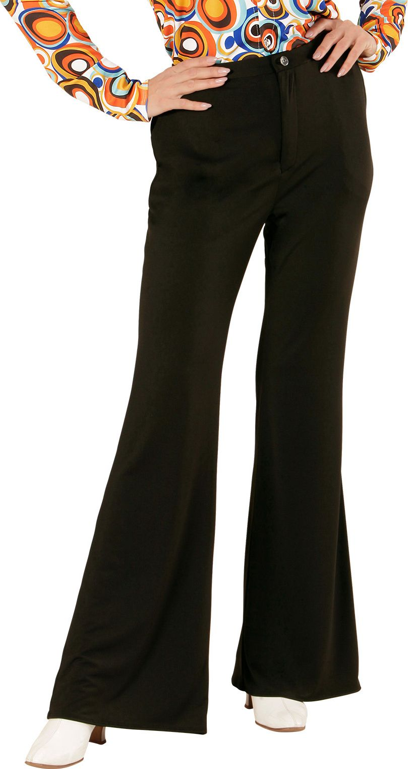 70s broek dames zwart