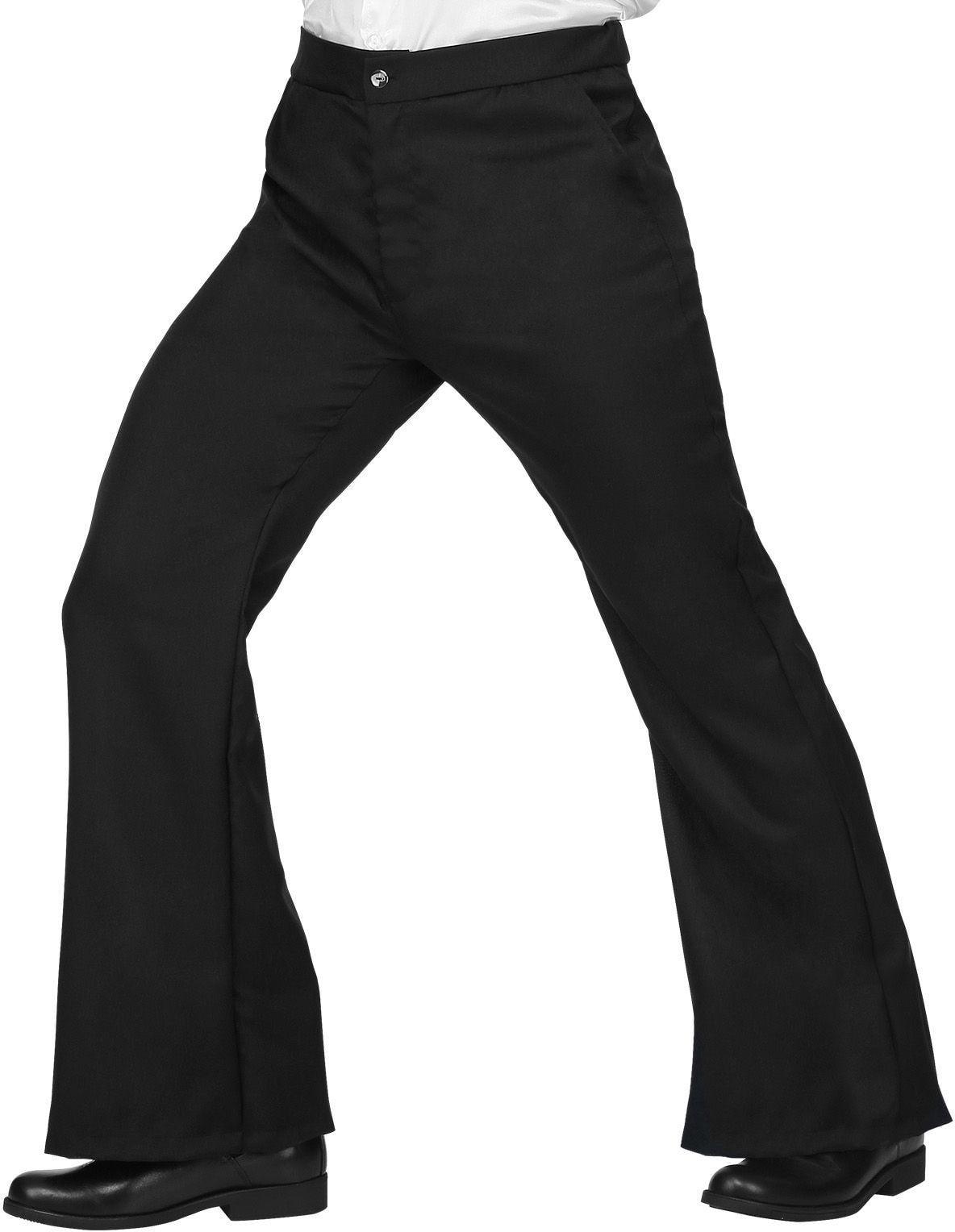 70s broek heren zwart