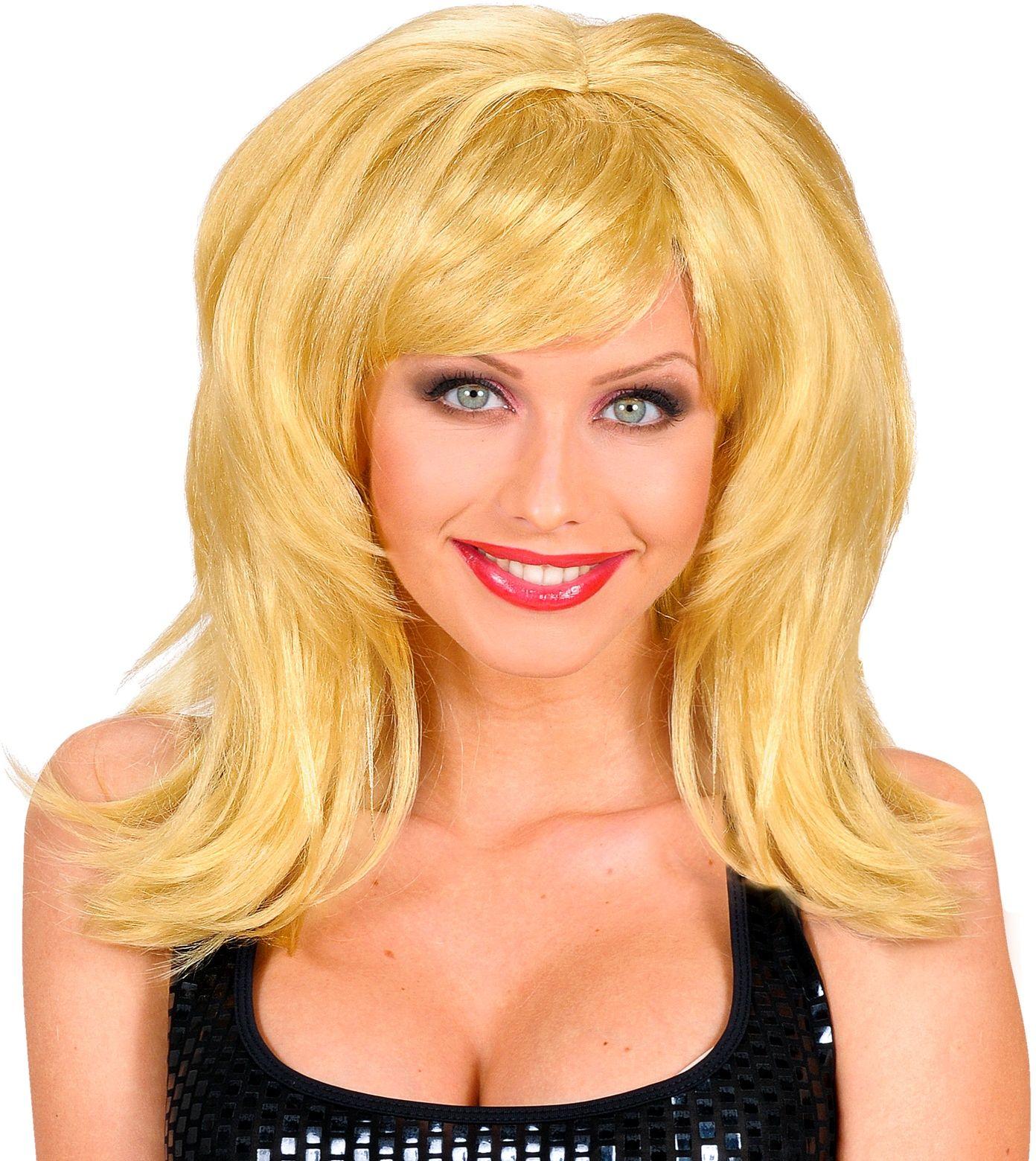 70's disco pruik blond
