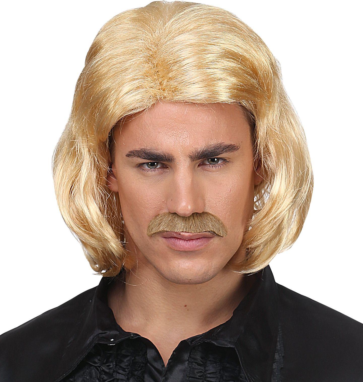 70s disco pruik blond mannen