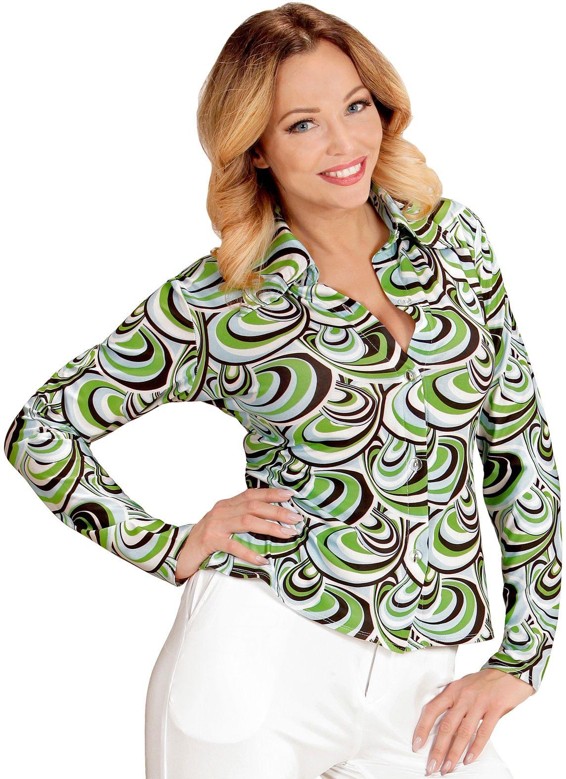 70s groovy shirt dames