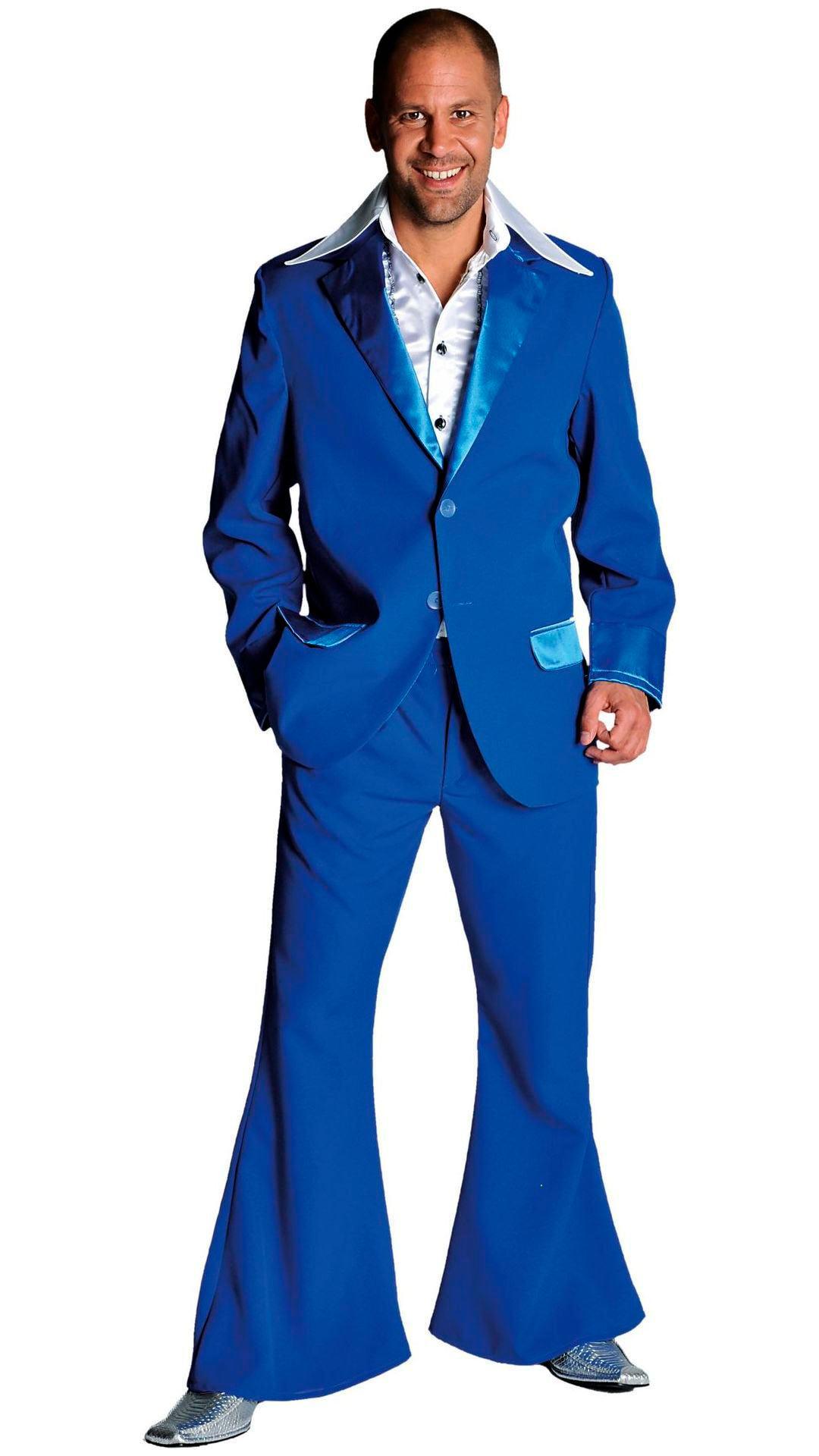70s pak kobalt blauw