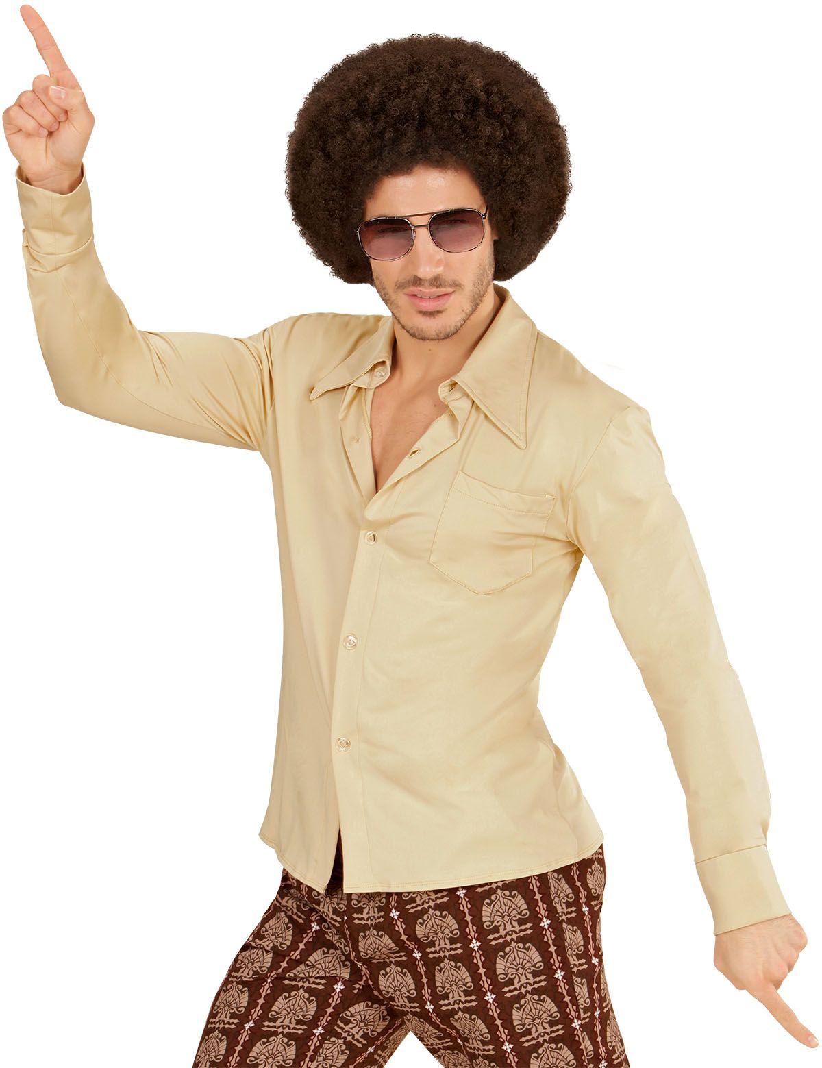 70s shirt beige