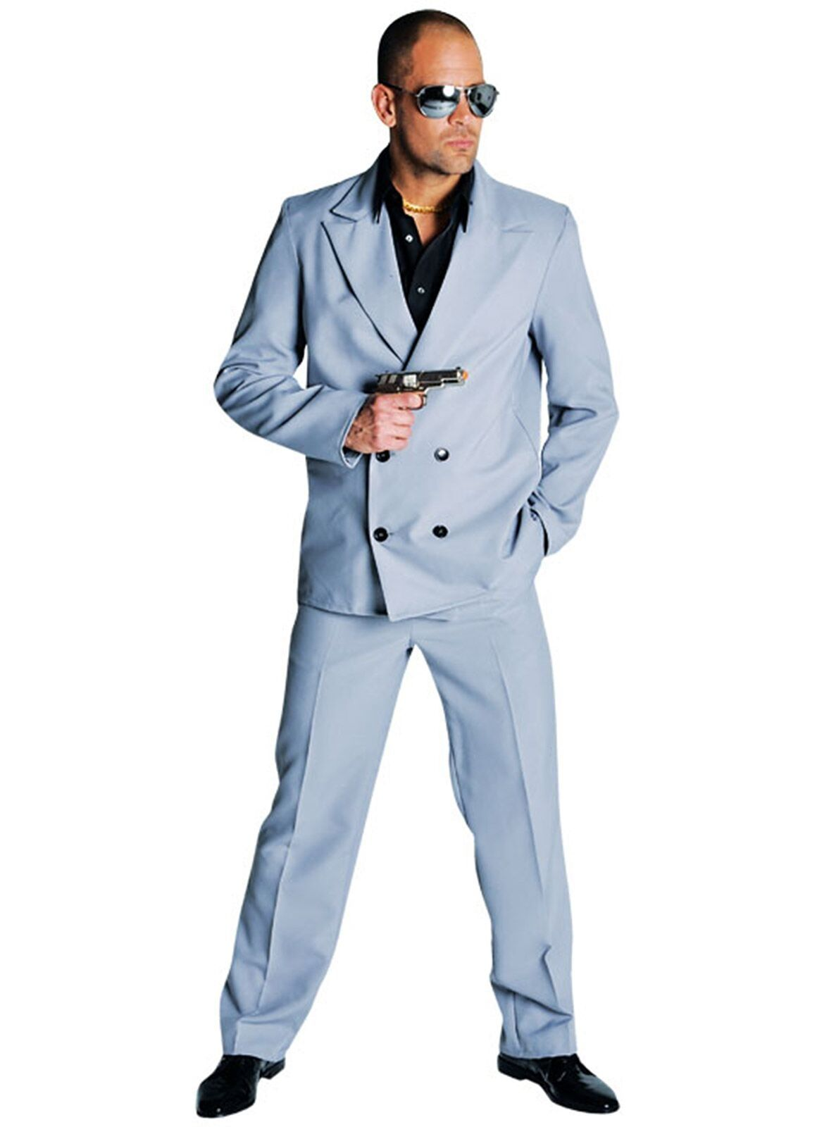 80s maffia outfit grijs mannen