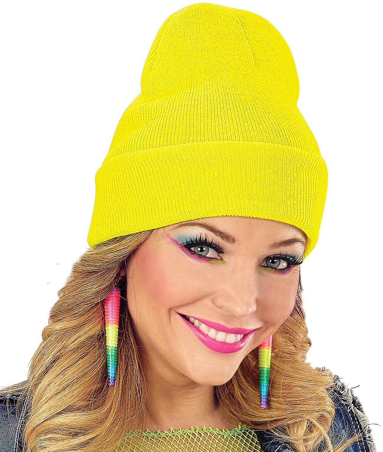 80s muts neon geel