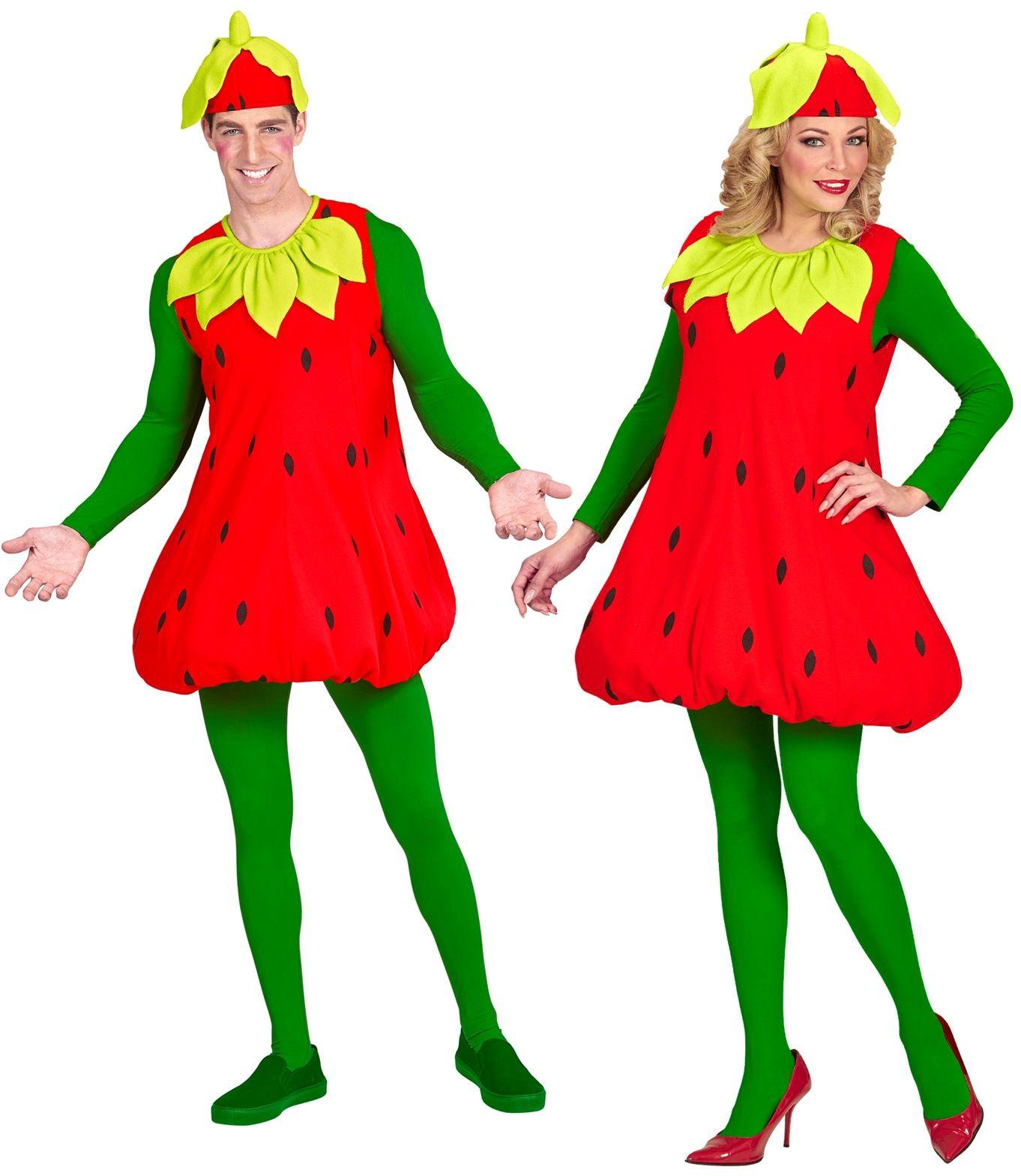 Aardbeien jurk One-size-volwassenen