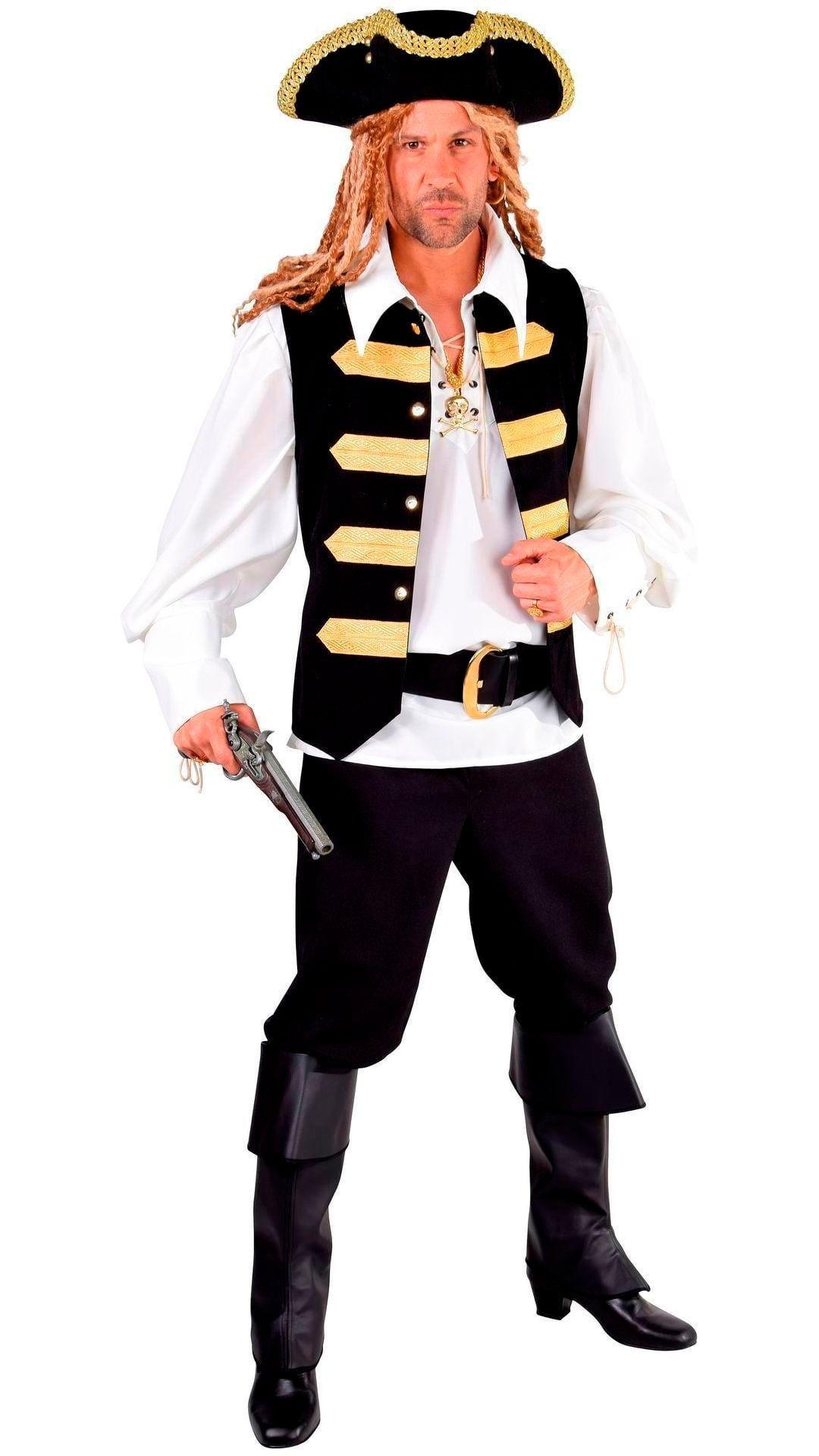 Admiraal kostuum zwart met goud heren