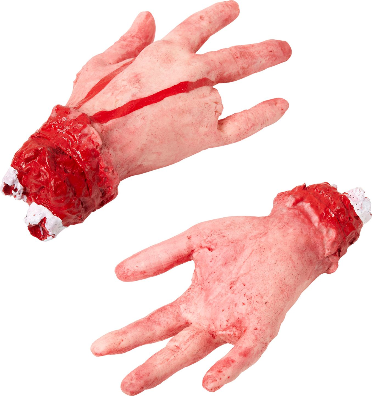 Afgesneden hand met afgehakte vinger