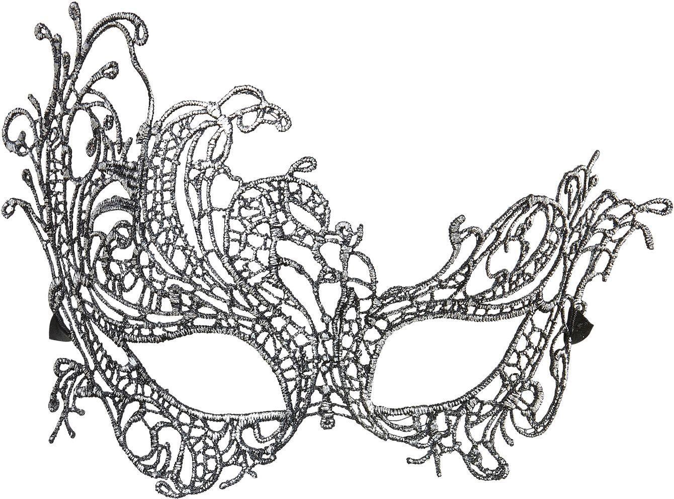 Antieken barok oogmasker zilver