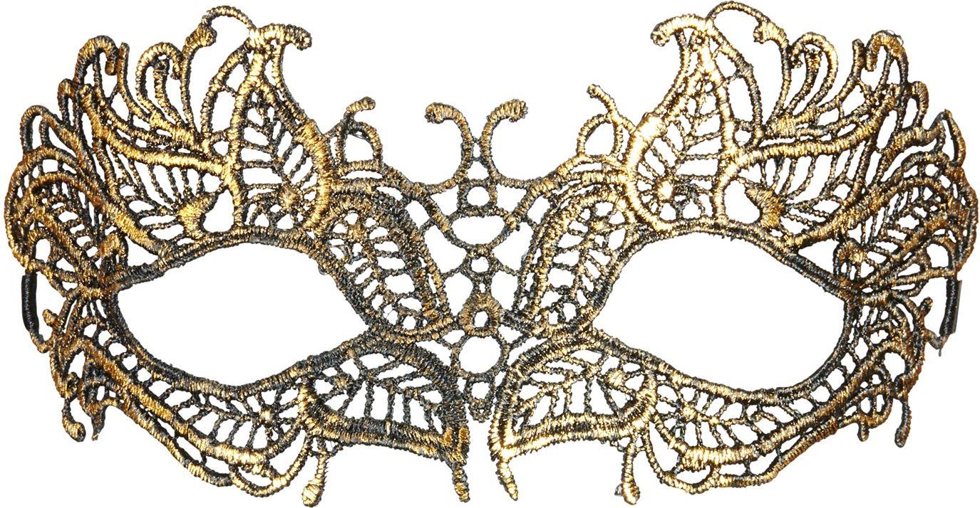 Antieken kanten oogmasker goud