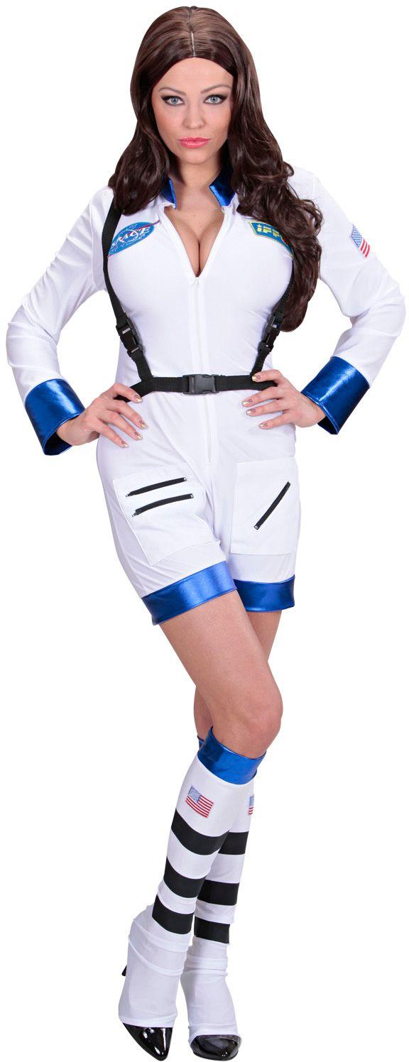 Astronauten kleding dames wit