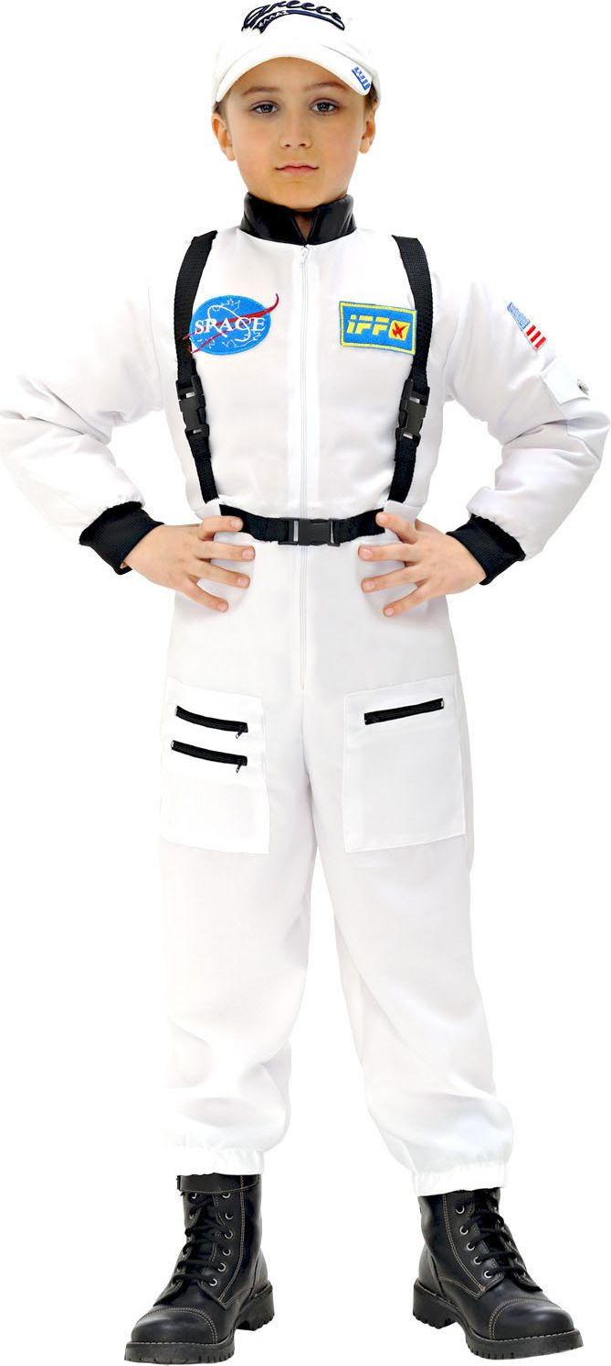 Astronauten kleding kind wit