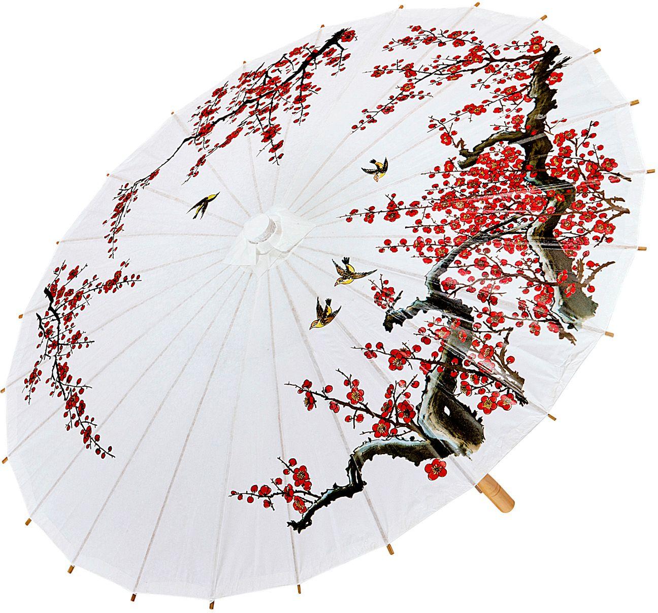 Aziatische decoratieve paraplu 84cm
