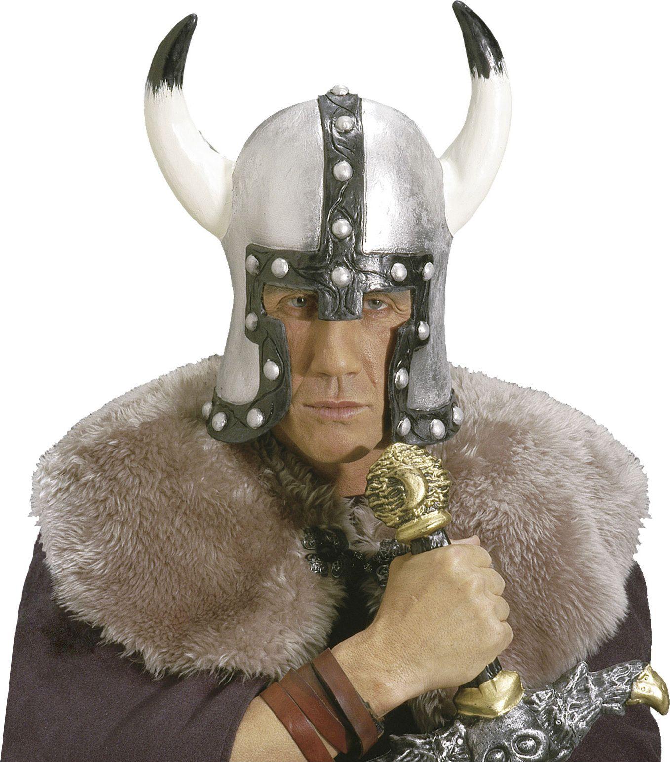 Barbaar helm zilver