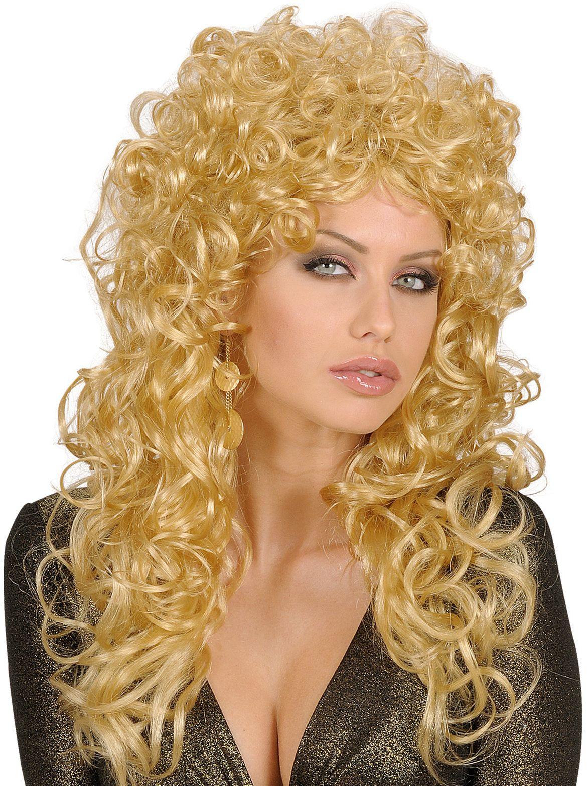 Beauty krullen pruik blond