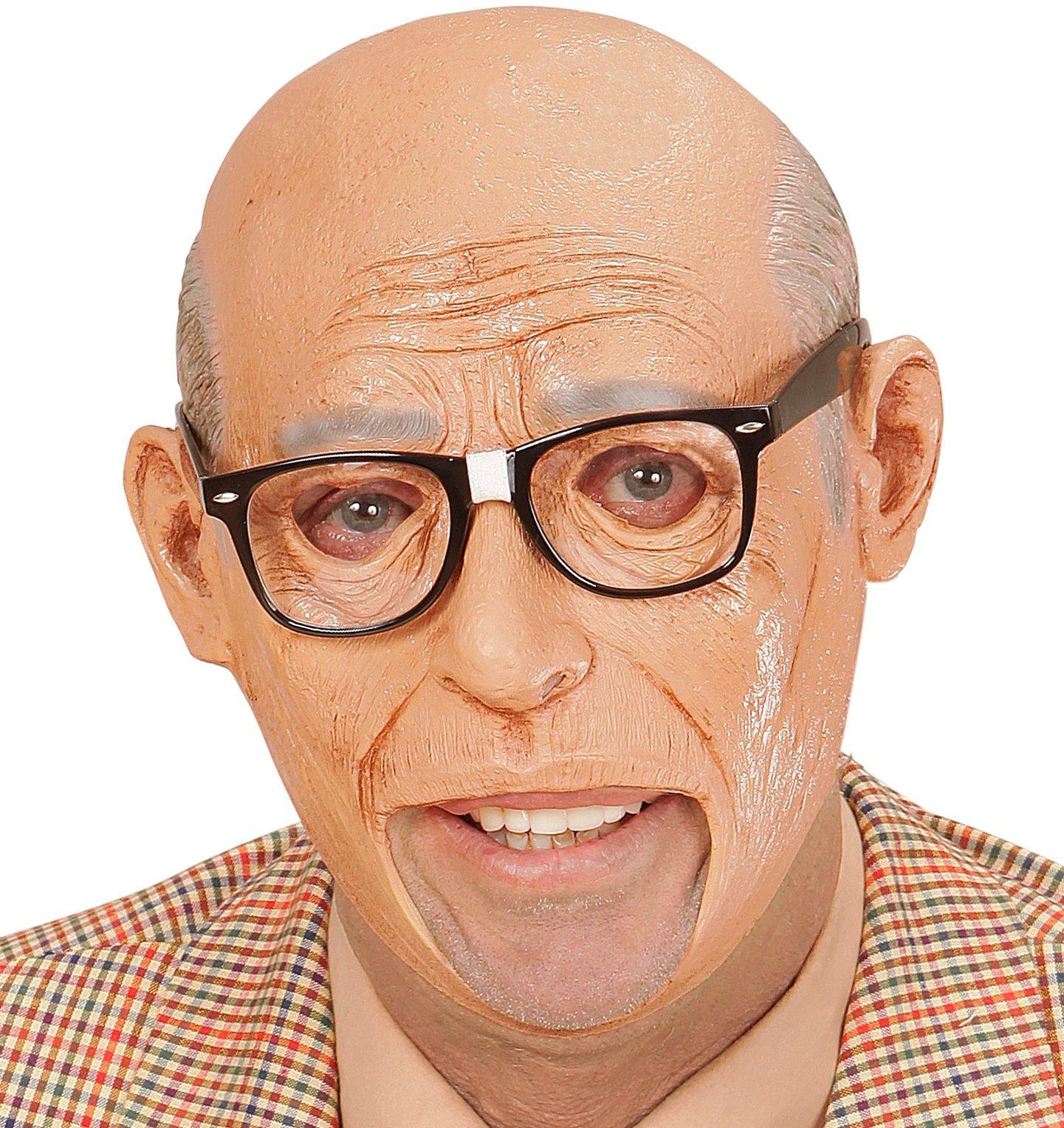 Bejaarden masker met open mond