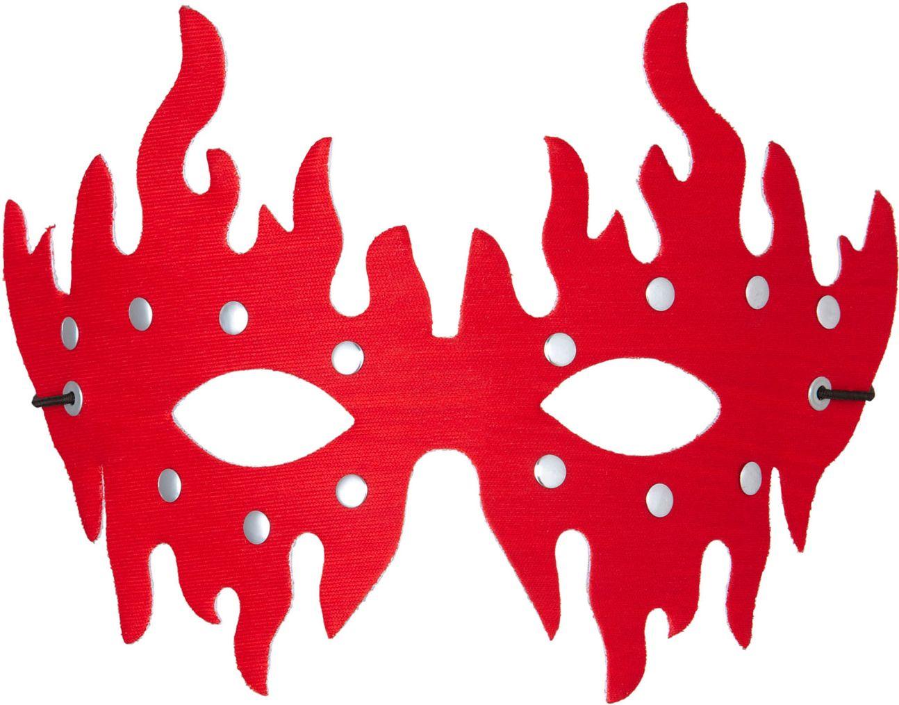 Beslagen oogmasker rood