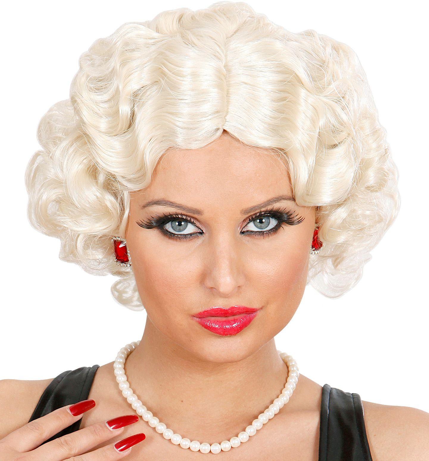 Betty boop pruik blond