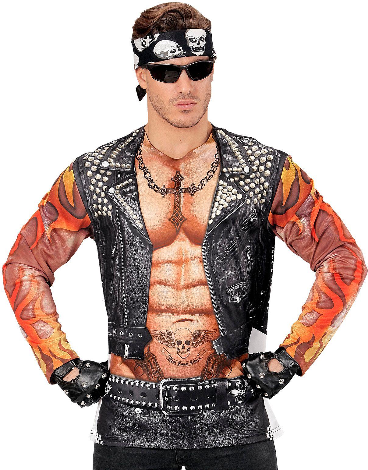 Biker shirt man