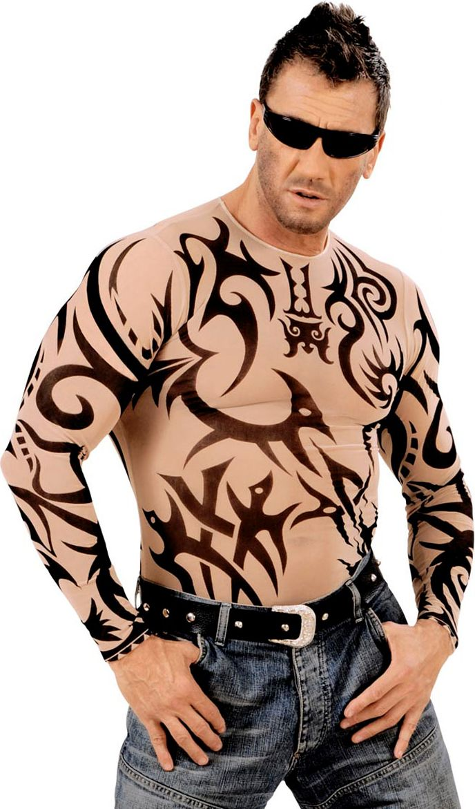Biker tattoo shirt heren