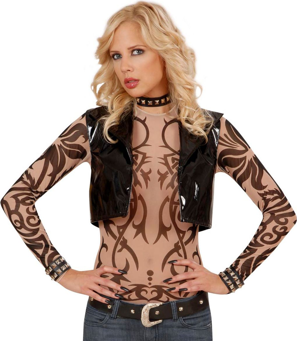Biker tribal tattoo shirt dames
