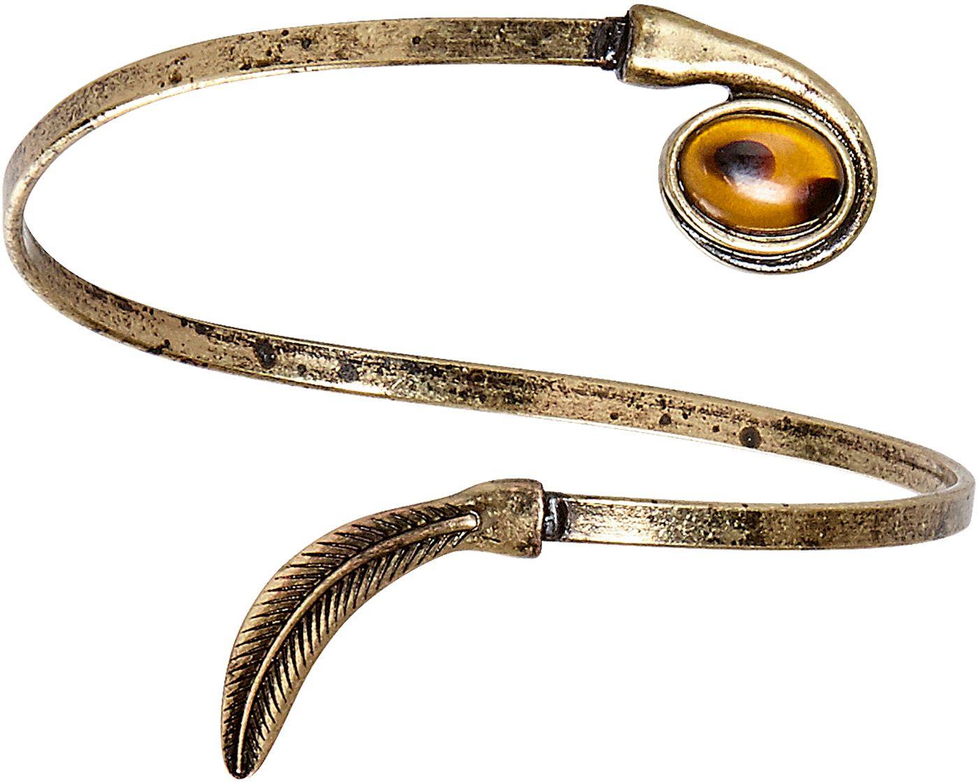 Blad armband met juweel goud