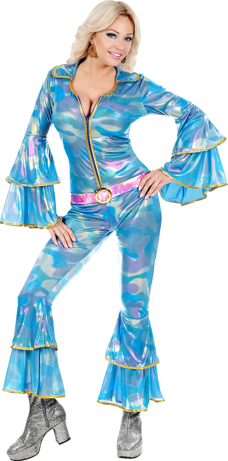 Blauw disco-outfit dames