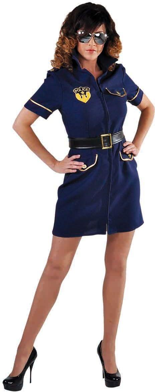 Blauw politie kostuum vrouwen