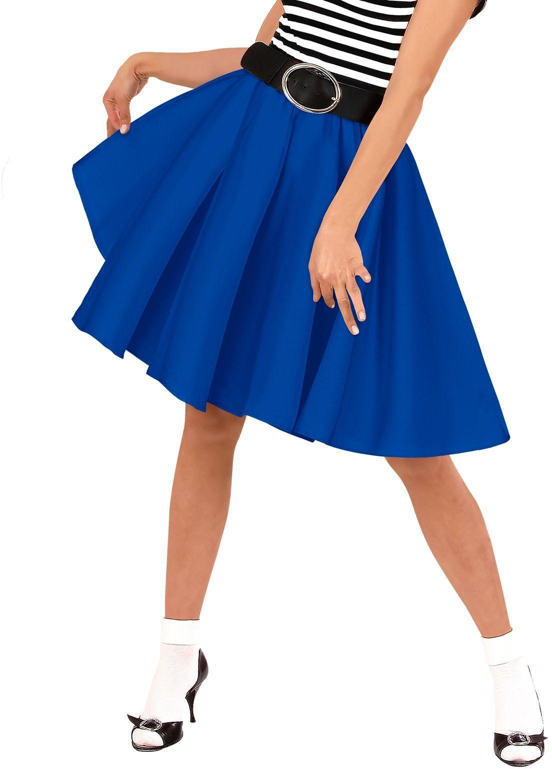 Blauw Rock and Roll rokje vrouwen